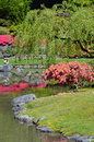 Colorful japanese garden in springtime Royalty Free Stock Image