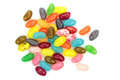 Colorful jelly beans isolated on white background Royalty Free Stock Images