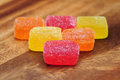 Colorful jelly candies Royalty Free Stock Photo