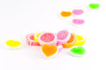 Colorful jelly candies isolated on white background Stock Photo