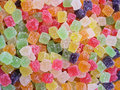 Colorful Jellybeans Background Stock Images