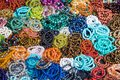 Colorful of Jewelry Stone Bracelet or gem in the market.Thailand Royalty Free Stock Photo