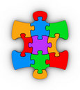Colorful jigsaw piece Stock Photography
