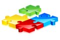 Colorful Jigsaw Puzzle Royalty Free Stock Images