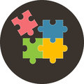 Colorful Jigsaw Puzzle Pieces , illustration. Eps 10. Royalty Free Stock Photo