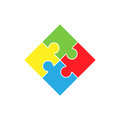 Colorful jigsaw puzzle pieces