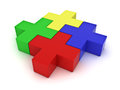 Colorful jigsaw puzzles Stock Images