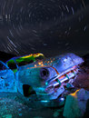 Colorful Junker Car Star Trails Royalty Free Stock Photo