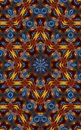 Colorful Kaleidoscope Pattern with David.s star in the middle Royalty Free Stock Photo