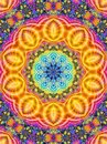 Colorful Kaleidoscope Pattern Indian Royalty Free Stock Photo