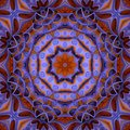 Colorful Kaleidoscope Pattern purple and gold Royalty Free Stock Photo