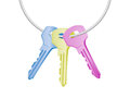 Colorful keys Royalty Free Stock Photo