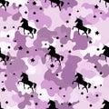 Black Silhouette Unicorn. Camo...