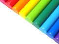 Colorful kid s plasticine on white background Royalty Free Stock Photography