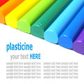 Colorful kid s plasticine on white background Stock Photography