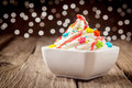 Colorful kids ice cream party dessert
