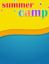 Colorful kids summer camp themed banner