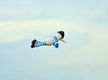 Colorful kite parafoil in flight with a blue sky background Royalty Free Stock Photo