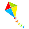 Colorful kite vector illustration of Stock Photography