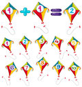 Colorful kites and numbers