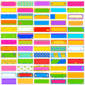 Colorful Kitsch banner jumbo collection Royalty Free Stock Photo