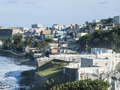 Colorful la perla and fort san christobal national park in old san juan puerto rico Stock Image