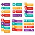 Colorful label Infographic elements presentation template  flat design set for brochure flyer leaflet marketing Royalty Free Stock Photo