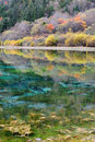 Colorful lake in Jiuzhaigou Stock Photo