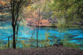 Colorful lake in jiuzhaigou autumn reputed as a fairyland located county of aba tibetan and qiang Stock Photography
