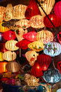 Colorful lanterns in hoi an vietnam colourful traditional silk and paper a street shop Stock Images