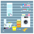 Colorful Laundry Room Elements Concept