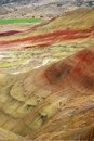 Colorful layers of hills Stock Image
