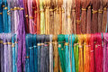 Colorful leather laces bundles of Royalty Free Stock Photo