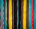 Colorful leather stripes background Stock Photo