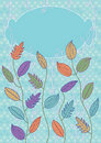 Colorful Leaves Card_eps Royalty Free Stock Photography