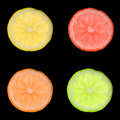 Colorful lemon slices Royalty Free Stock Images