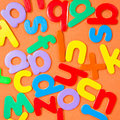 Colorful letters Stock Images