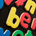Colorful letters be written in magnetic toy Stock Photography