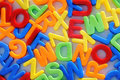 Colorful letters childhood education teaching Stock Image