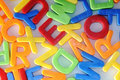 Colorful letters detail childhood education teaching Royalty Free Stock Image