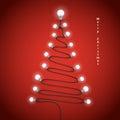 Colorful light bulbs and Christmas tree symbol .Merry christmas Royalty Free Stock Photo