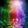 Colorful lightning Royalty Free Stock Photography