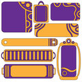 Colorful lilac and orange tag collection Stock Photo