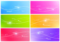 Colorful Lines Design Template Royalty Free Stock Images