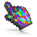 Colorful link selection cursor creative abstact modern internet media communication and multimedia soical networking web business Royalty Free Stock Photo