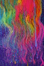 Colorful liquid art streaks Stock Photo