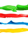Colorful liquid paint splashes different colors Royalty Free Stock Photo