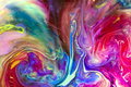 Colorful liquids underwater.  Colorful abstract composition. Royalty Free Stock Photo