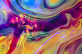 Colorful liquids underwater psychedelic colors abstract composition with interesting shapes patterns rich textures color mixing Stock Photos