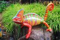 Colorful lizard statue Royalty Free Stock Photo